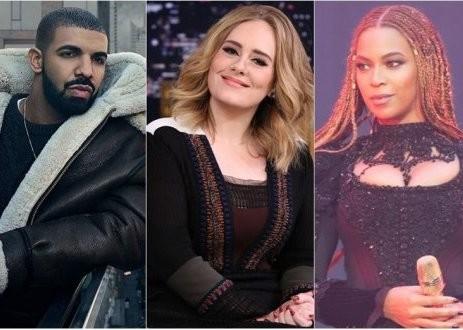 Drake-Adele-Beyonce